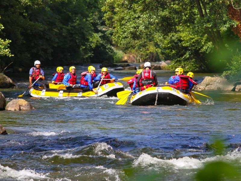 activité rafting sur l'Aude