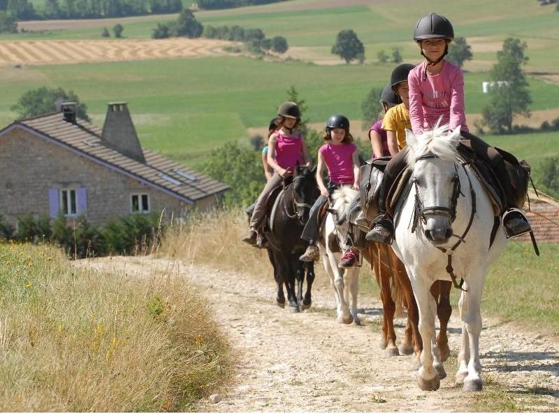 ballade à cheval dans la vallée de l'Aude