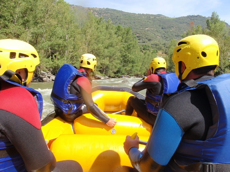 raft photo go pro sur l'Aude
