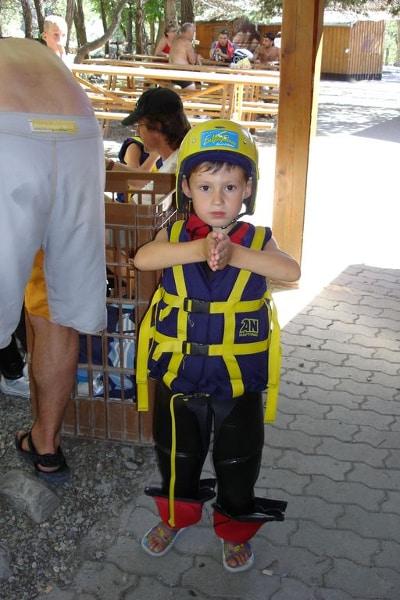 Rafting enfant aude