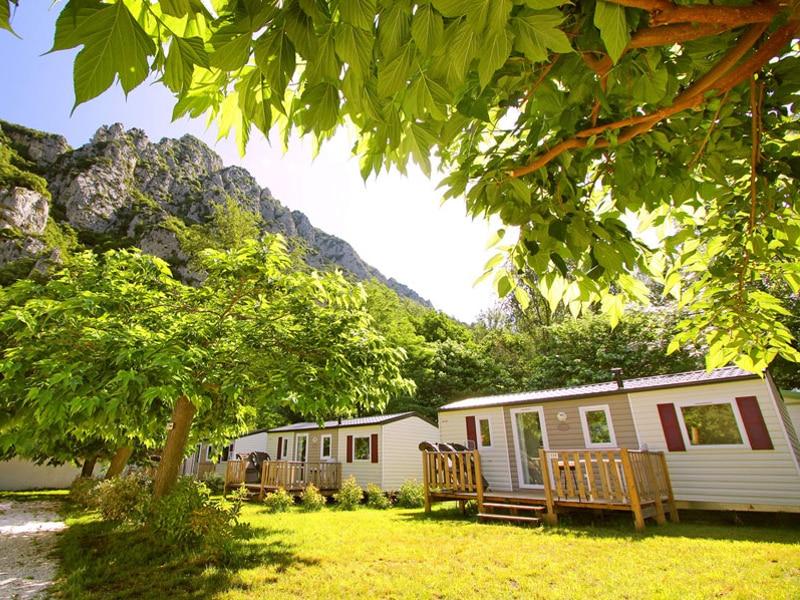 mobilhome du camping qui vous heberge lors d'un week-end canyoning dans l'Aude