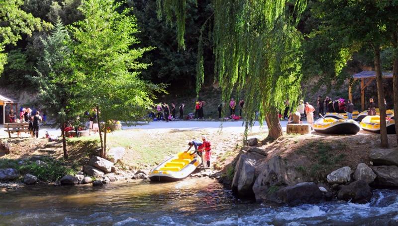 Rafting près de Toulouse et Perpignan zone d'embarquement