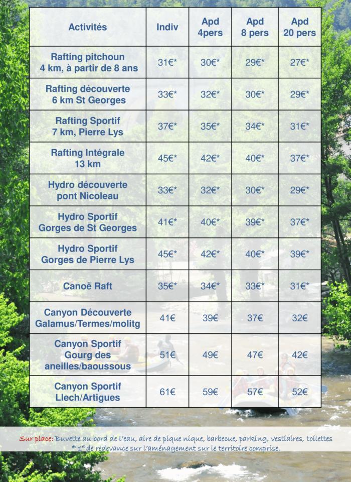 tarifs 2021 eau vive et canyon-1